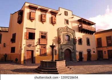 Historical colonial museum, Casa de Colon (Colombus House) in Las Palmas, Gran Canaria, Spain