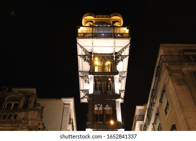 Historical elevator in a street in Lisbon