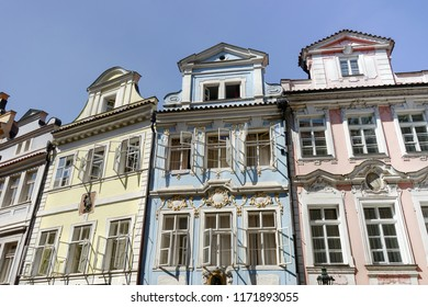 Historical facade in the center of Prague