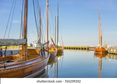 Historical Fisher Boats at the Baltic Sea