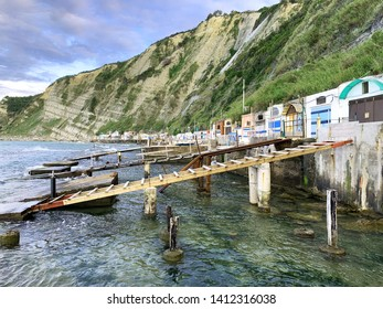 The historical fisherman's caves on Passetto beach - Ancona - Italy
