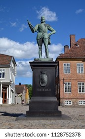 Historical fortress and city  Fredrikstad.Named after the Danish King Fredericks II. June 19,2018. Fredrikstad,Norway