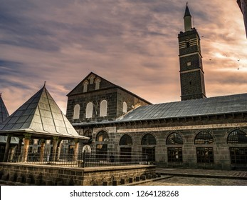 historical great mosque in the center of diyarbakir, turkey