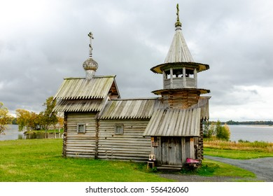 Historical heritage Chapel of Michael the Archangel at Kizhi, UNESCO world heritage site, Onega lake, Karelia, Russian nowth-west