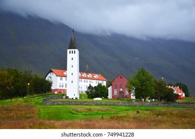 The historical Hólar in Hjaltadalur in North-Iceland