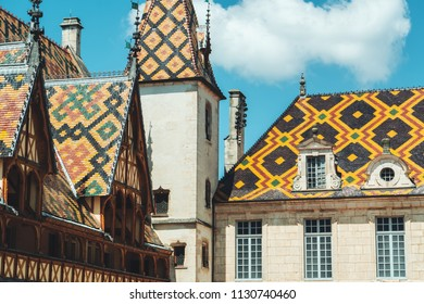 The historical Hospice Hotel Dieu in Beaune, France