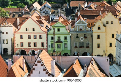 Historical houses in Cesky Krumlov. Czech Republic