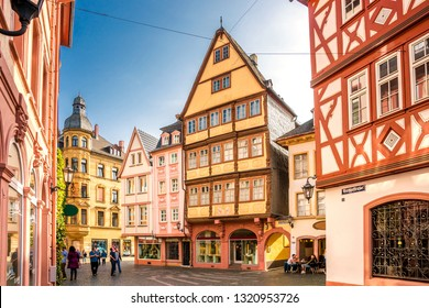 Historical Houses in Mainz, Germany