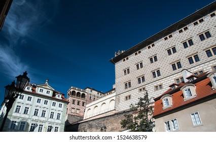 Historical houses in Prague city