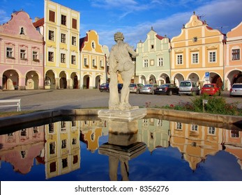 Historical houses in Telc, Czech Republic