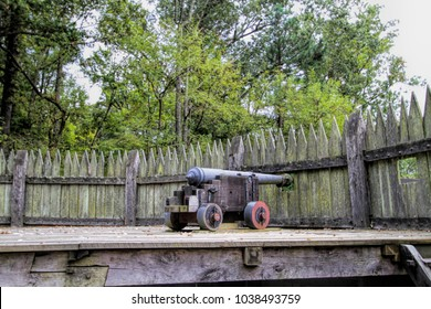 Historical Jamestown Virginia Cannons