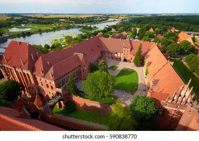 historical knights castle malbork in poland