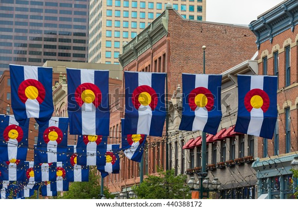 Historical Larimer Squarre in the Summer.