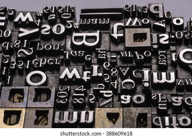 Historical letter press types, also called as lead letters. These kind of letters were used in Gutenberg presses. These letters were the beginning of typography. And were used in typesetting