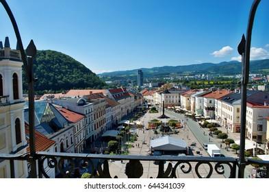 Historical main square in Banska Bystrica (Slovakia)