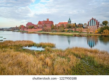 Historical Malbork castle in October
