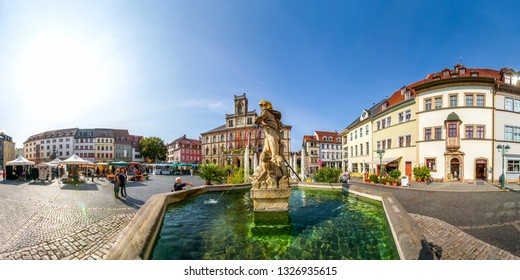 Historical market and city hall of Weimar, Germany