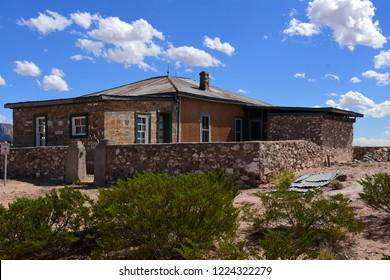 the historical mcdonald ranch house at the trinity site  near san antonio , new mexico, where the trinity nuclear test bomb was assembled in 1945