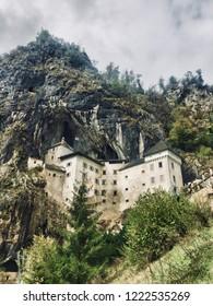 Historical medieval castle Predjama in Slovenija.