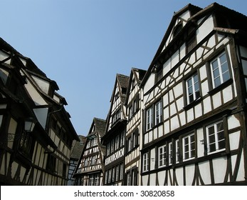Historical medieval houses in France