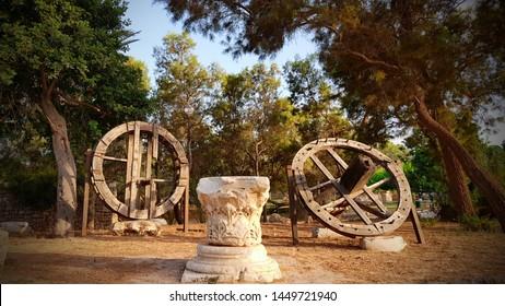 historical monument in Ashkelon National park Israel