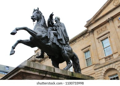 Historical Monument, Duke of Wellington Monument, statue with his horse Copenhagen