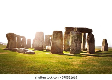 Historical monument Stonehenge in the evening sun