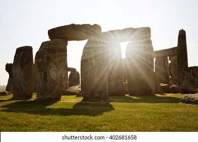 Historical monument Stonehenge in sunset