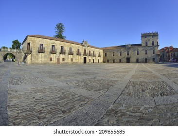 The historical and monumental center of the capital of Albarino wine, Cambados, Fefinanes Square
