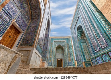 Historical necropolis and mausoleums of Shakhi Zinda, Samarkand, Uzbekistan.