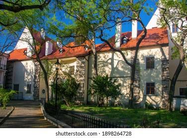 Historical Notre Dame Church (Kostol Nanebovzatia Panny Marie) in old citycenter of Bratislava, Slovakia - Shutterstock ID 1898264728