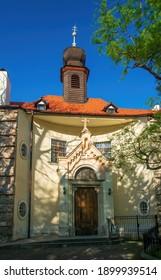 Historical Notre Dame Church (Kostol Nanebovzatia Panny Marie) in old citycenter of Bratislava, Slovakia - Shutterstock ID 1899939514