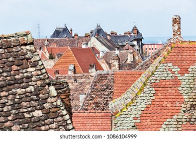 Historical old buildings roofs in Sibiu Romania