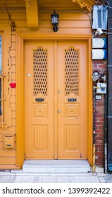 Historical, Old, Colorful Doors in Kuzguncuk, Istanbul, Turkey. Detail scenic view of colorful doors in Istanbul Streets.