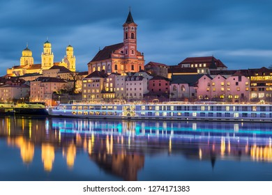 Historical Old Town of Passau on Danube river, Germany