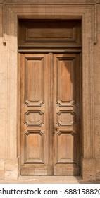 Historical Ornate Wooden Door, Marseille, France