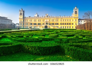 Historical palace of Reggia di Colorno and green labyrinth, Colorno, Emila-Romagna, Italy