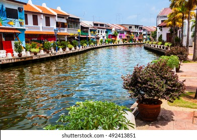 Historical part of the old malaysian town Malacca, Malaysia. It is listed in UNESCO World Heritage Site