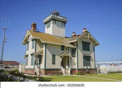 The historical Point Fermin Lighthouse at San Pedro, California
