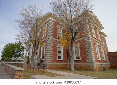 the historical preserved courthouse building in tombstone arizona usa