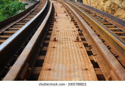 Historical Railway located in Kanchanaburi of Thailand