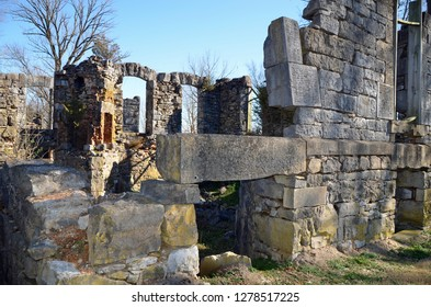 Historical remnants of a nineteenth century stone tavern. Bell's Tavern Park City was a boom located near Mammoth Cave catering to tourists.