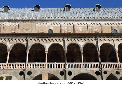 Historical renaissance market building in Padua, Italy