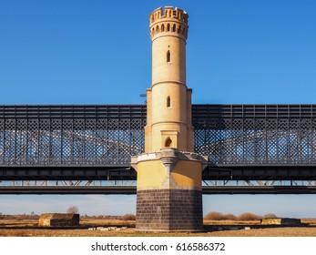 Historical road bridge in Tczew - Poland