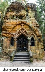 Historical rock chapel in Czech republic