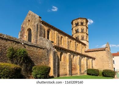 Historical romanesque church Anzy le Duc, Saonne-et-Loire, France.