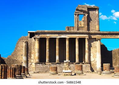 historical ruined building in Pompeii