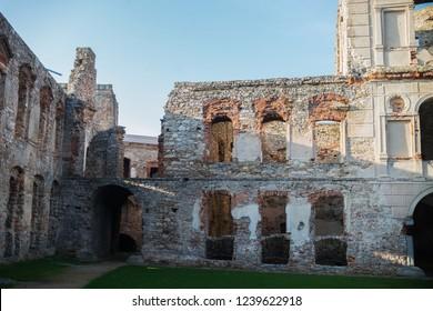 historical ruins of castle Krzyztopor in Swietokrzyskie, Poland