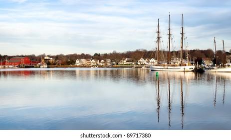 Historical Seaport in Mystic Connecticut