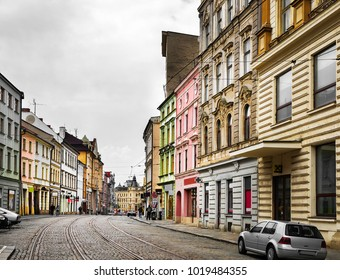 Historical sights of Olomouc in the Czech Republic. European city.